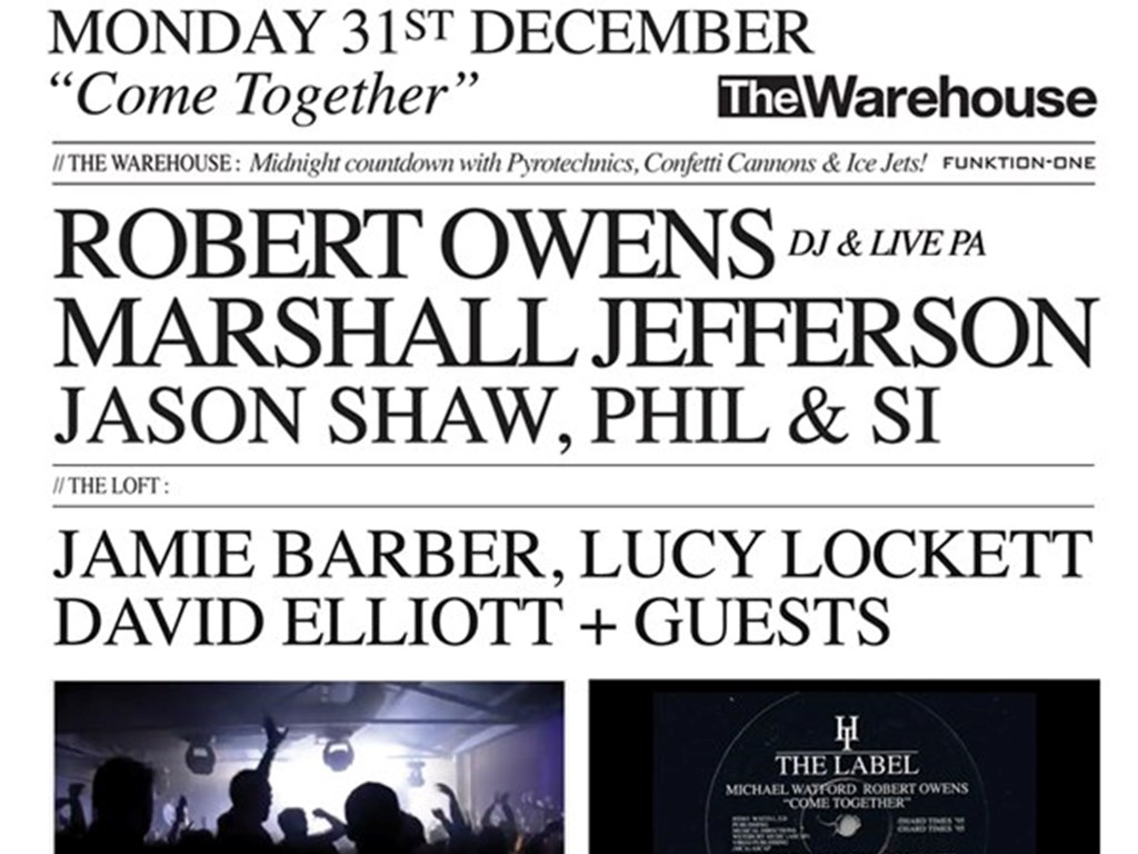 [Competition] Win 2 free tickets to Hard Times NYE w/ Robert Owens & Marshall Jefferson
