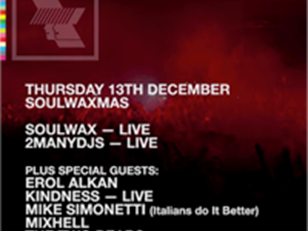 Soulwax announce full Soulwaxmas WHP lineup!