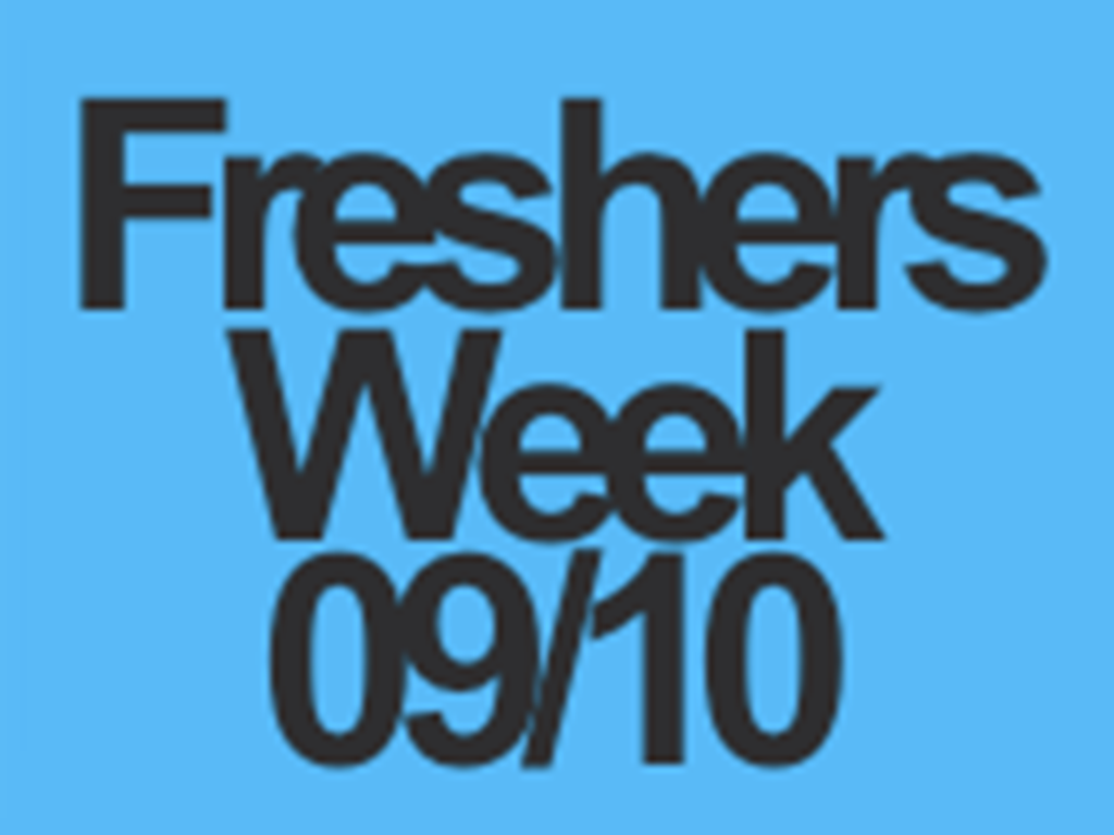 Freshers Week Kicking off 21.09