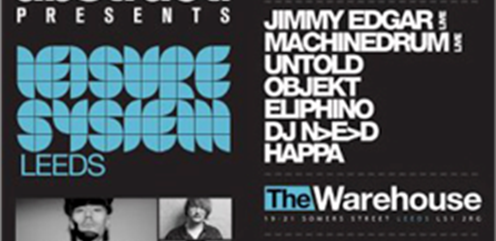 abstract. Announce their first event at The Warehouse feat. Live sets from Jimmy Edgar, Machinedrum + more