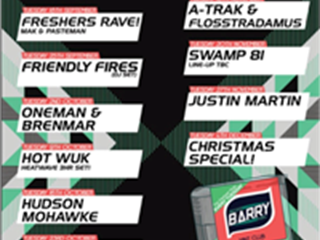 Bigger Than Barry Leeds Release Sep-Dec Tuesday Lineups & Tickets