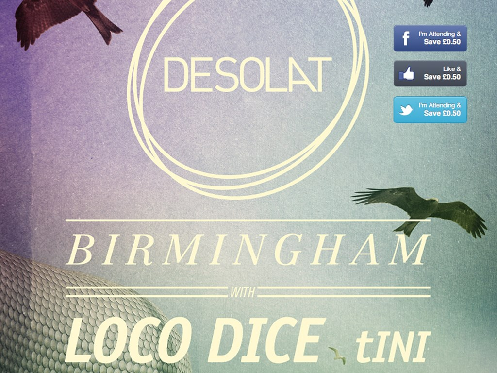 Save money on 'A Desolat Birmingham' (Loco