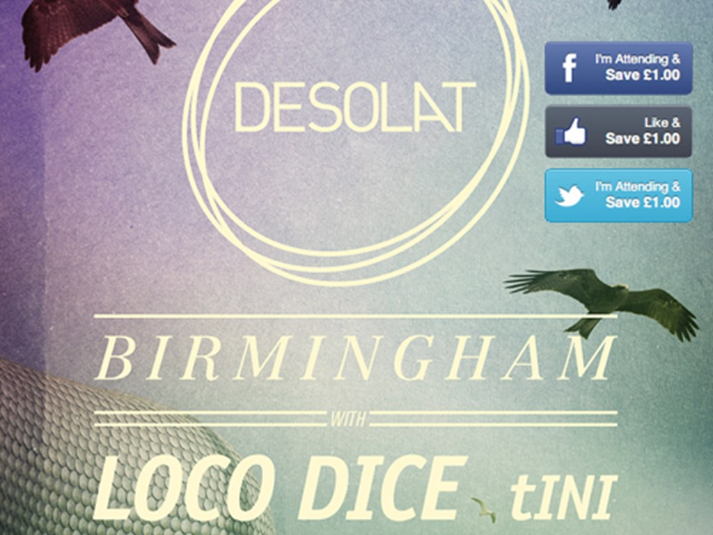£3 discount on 'A Desolat Birmingham' (Loco