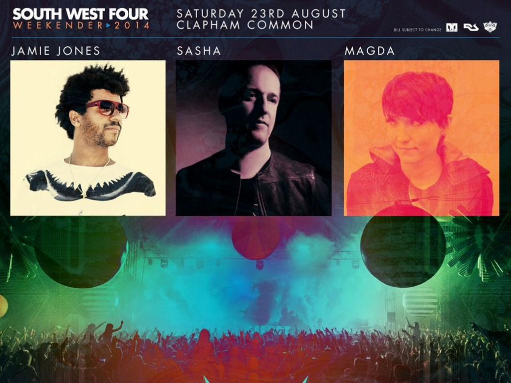 Jamie Jones, Sasha & Magda added to South West Four