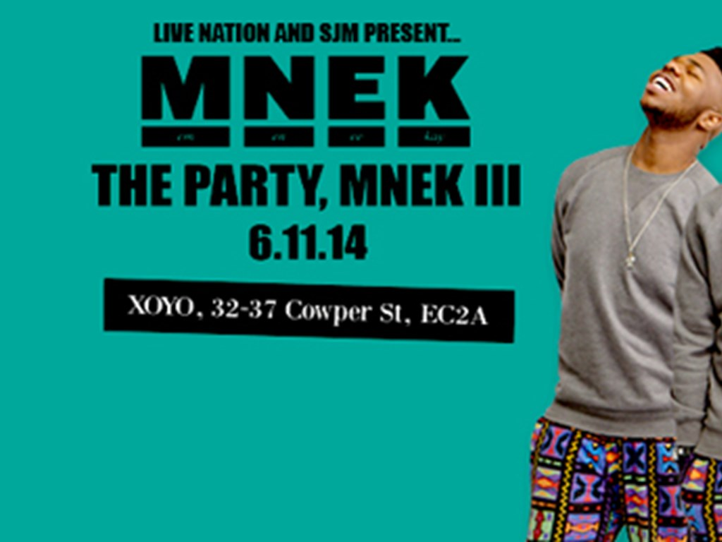 MNEK readies XOYO London show