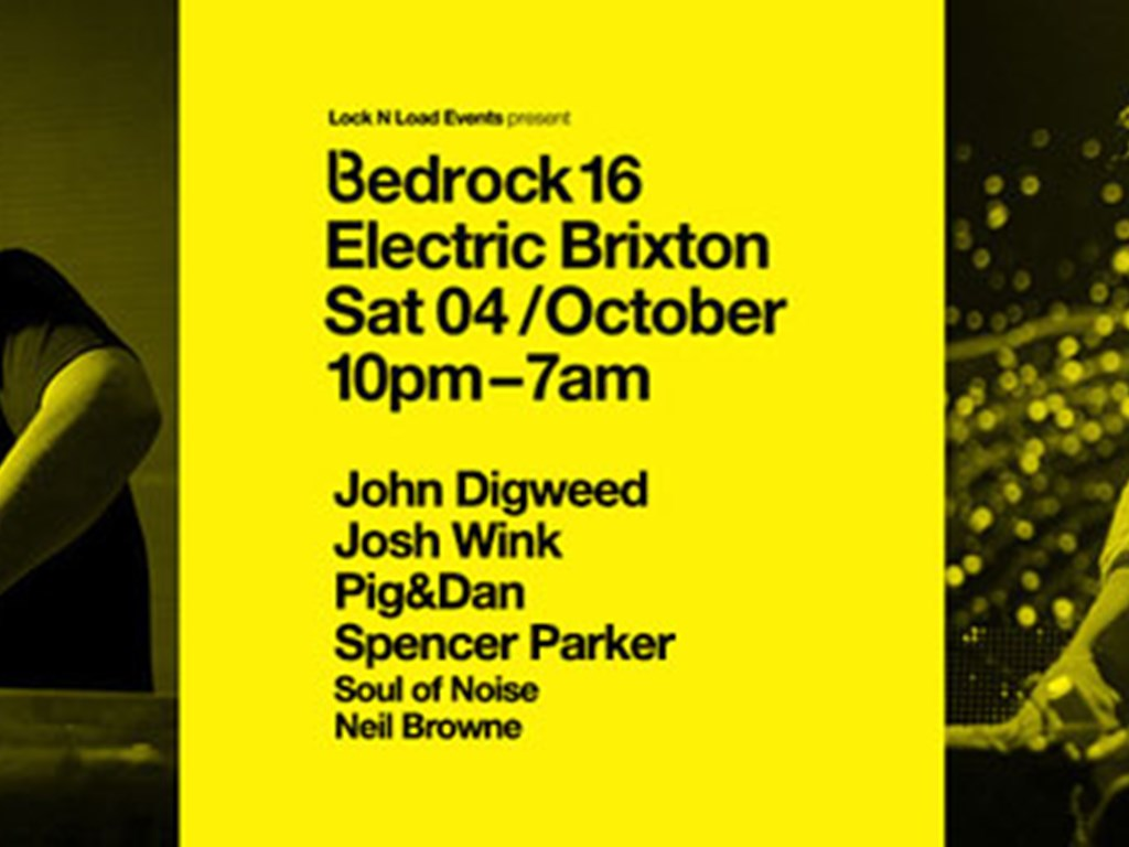 Win 2 Tickets to Bedrock 16 at Electric Brixton