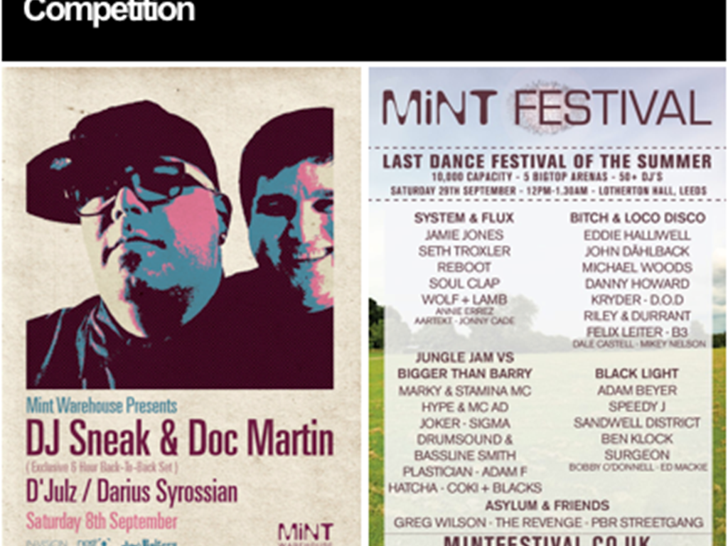 Competition win 2 FREE tickets to Mint Festival!
