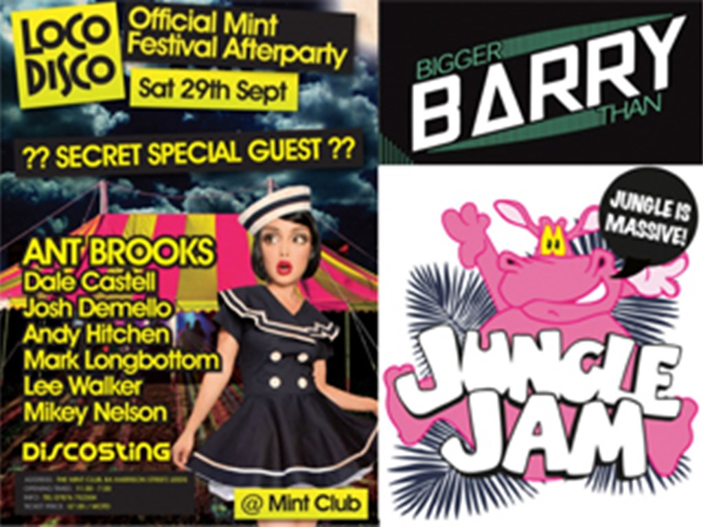 LoCoDiScO & Jungle Jam vs. Bigger Than Barry announce their Mint Festival after parties!