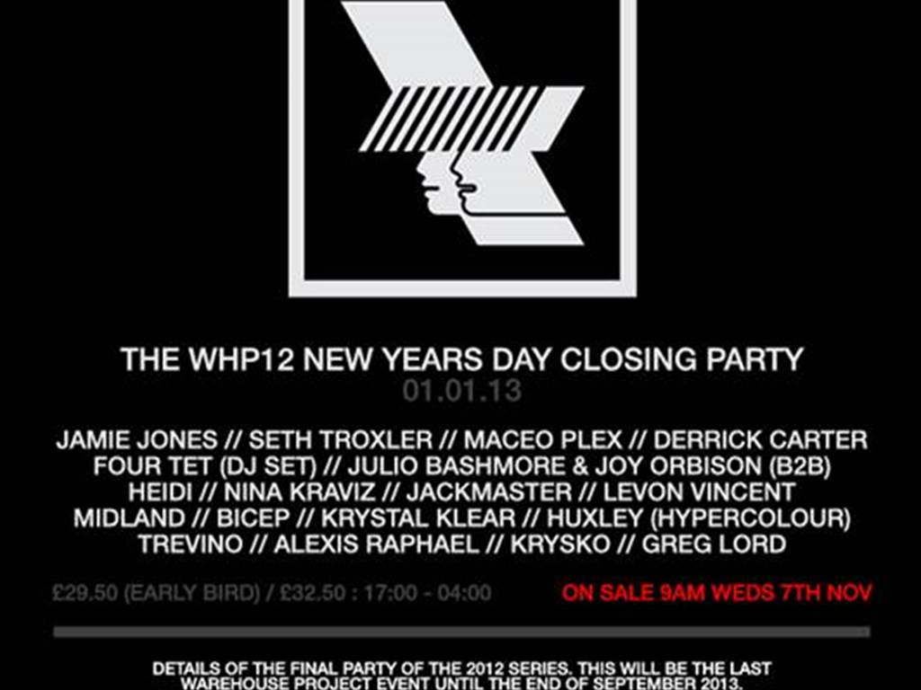 Warehouse Project release NYD lineup and ticket