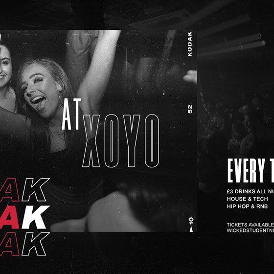 SNEAK TUESDAY RAVE @ XOYO IS BACK (£3 DRINKS) 3rd Aug