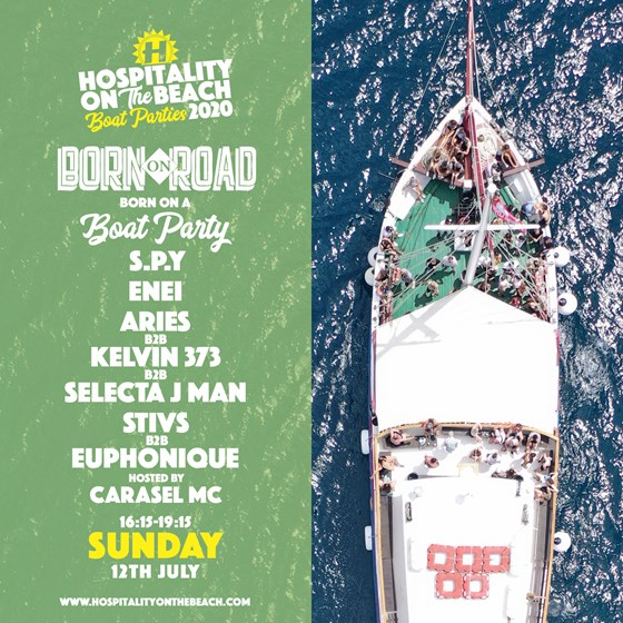 Sunday 16:15-19:15 Born On A Boat Party