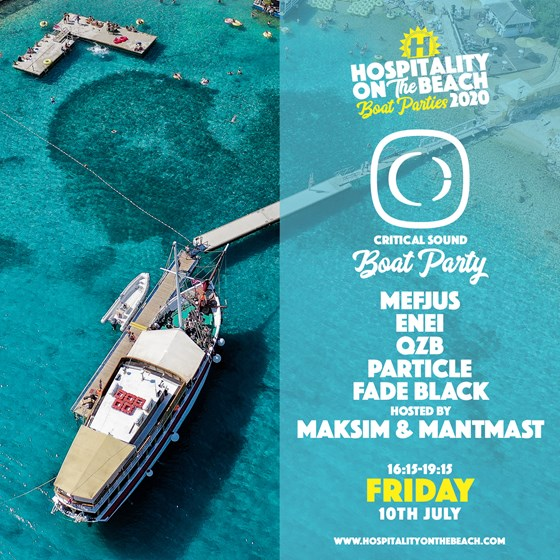 Friday 16:15-19:15 Critical Sound Boat Party