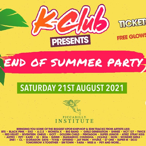 K-Club presents... The K-POP ' End of Summer Party'   London