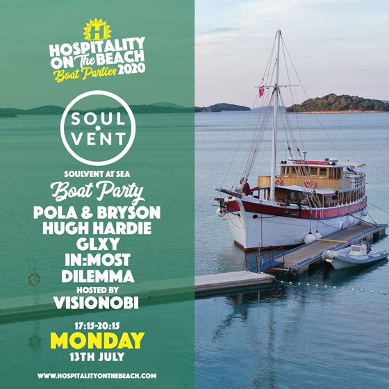 Monday 17:15-20:15 Soulvent At Sea Boat Party