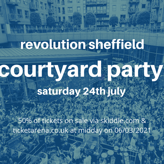 revolution courtyard party :: saturday 24th july tickets