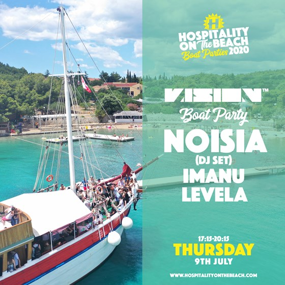 Friday 13:30 - 16:30 Vision Boat Party