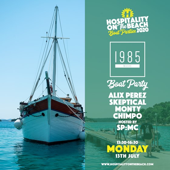 Monday 13:30-16:30 1985 Boat Party