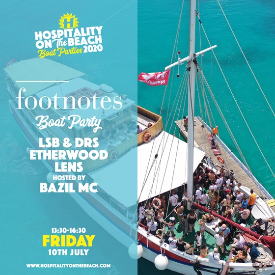 Thursday 17:15 - 20:15 Footnotes Boat Party