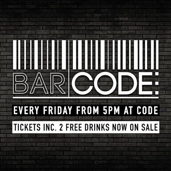 BARCODE - Every Friday, all drinks £2 all night!