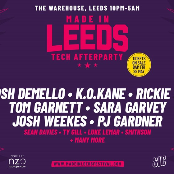 Made in Leeds Official After Party