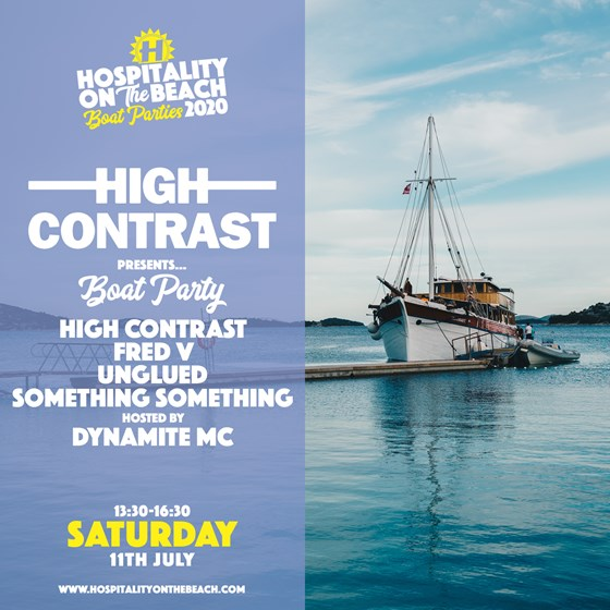 Saturday 13:30-16:30 High Contrast Boat Party