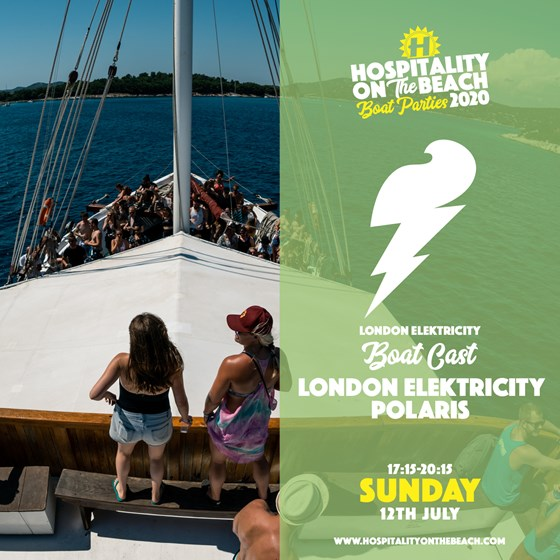 Sunday 17:15-20:15 London Elektricity BoatCast